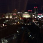 Club level lounge floor 16 view at night