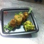 Filetto di salmone lardellato in crosta di sesamo