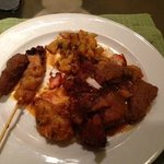 chicken/mutton satay and curry mutton