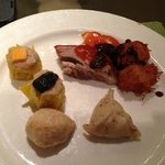 tim sum with roast duck meat