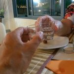 Cheers. Raki with the Meze