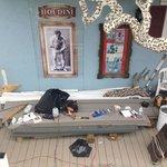 The back porch under restoration: 2