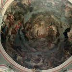 The frescoed dome of the cathedral