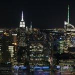 Вид на Манхэттен ночью