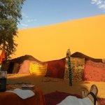 Arrivée au Bivouac dans le désert