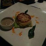 potato cake with asparagus
