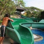 Kids pool, waterslide