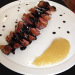 Duck breast with apple sauce