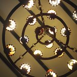 Chandelier at the hotel lobby