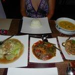 At dinner-