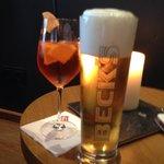 Enjoying drinks at the Penta