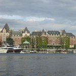 View of Victoria Inner Harbor from our bus while on the water.