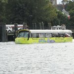 One of the Hippo buses on the water in the Inner Harbor.