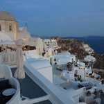 View from the terrace - evening Oia