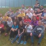 Carl with students from Columbus Catholic High School, Waterloo, Iowa, USA