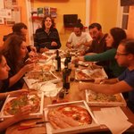 Pizza in the best hostel in Genova!
