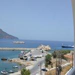 widok na port i zatokę