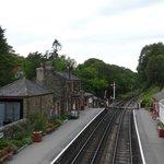 Station Goathland 's avonds