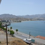 widok z balkonu na plażę