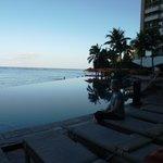 Infinity pool overlooking the beach