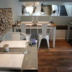 The Restaurant with Views of the Open Plan Kitchen