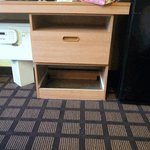 missing drawer and broken safe
