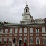 The street view of Independence Hall