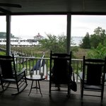 Second floor view facing Manteo harbor