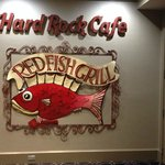 Sign in Hyatt French Quarter leading to the Red Fish Grill