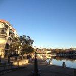 Morning walk along the river