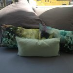 detail of the coloured cushions (love them)
