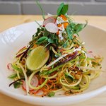 Raw pad thai with toasted peanuts and a tamarind dressing