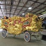 Historic circus wagons on Display