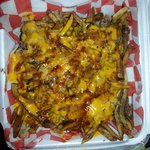 Loaded fries! Pulled pork and cheese. YUMMY!