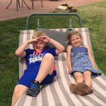 Parker and Mason relaxing on the new hammock!