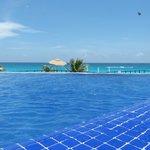 Pool area overlooking beach