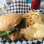 Grilled Chicken Sandwich at Pop's Diner, Hendersonville, NC
