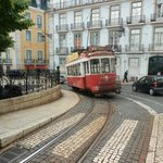 The hotal is just on the left. Historic tram