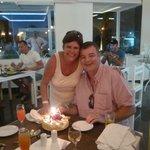 Birthday / Wedding Anniversary cake presented to us.