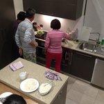 Preparing for dinner