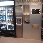 Vending machines and microwave