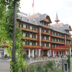 The view of the front of the hotel