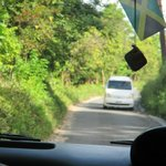 This is what scares people on the ride to the resort, this is a two lane road in Jamaica