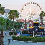 Ferris Wheel and Children Playground