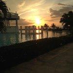 Sunset at the Main Pool