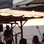 Hawaiian music at sunset