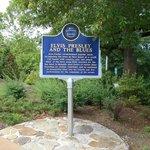 Elvis Blues Trail marker