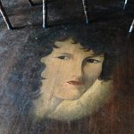 old owners wife painted on floor