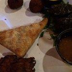 Samosa and veggie assortment