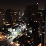 Night time view from rooftop pool
